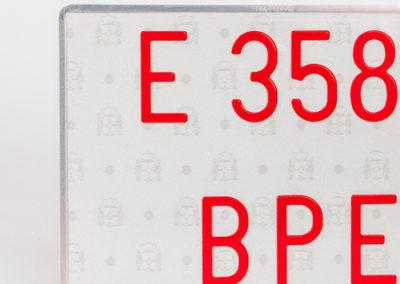 Placa Aluminio Vehiculo Especial